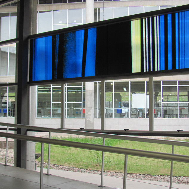 BLUES obra site-specific- 420 cm x 120 c