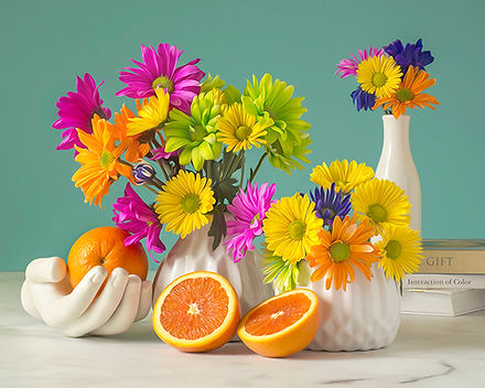 Cheryl_Belczak_Rainbow_daisies_on_blue.j