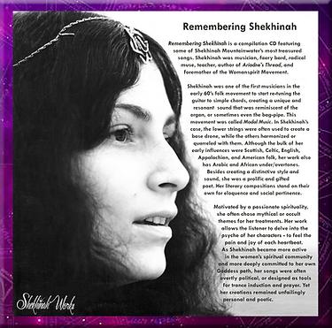 Remembering Shekhinah CD cover - framed