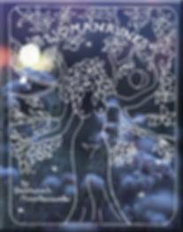 Womanrunes cover in white over flower gi