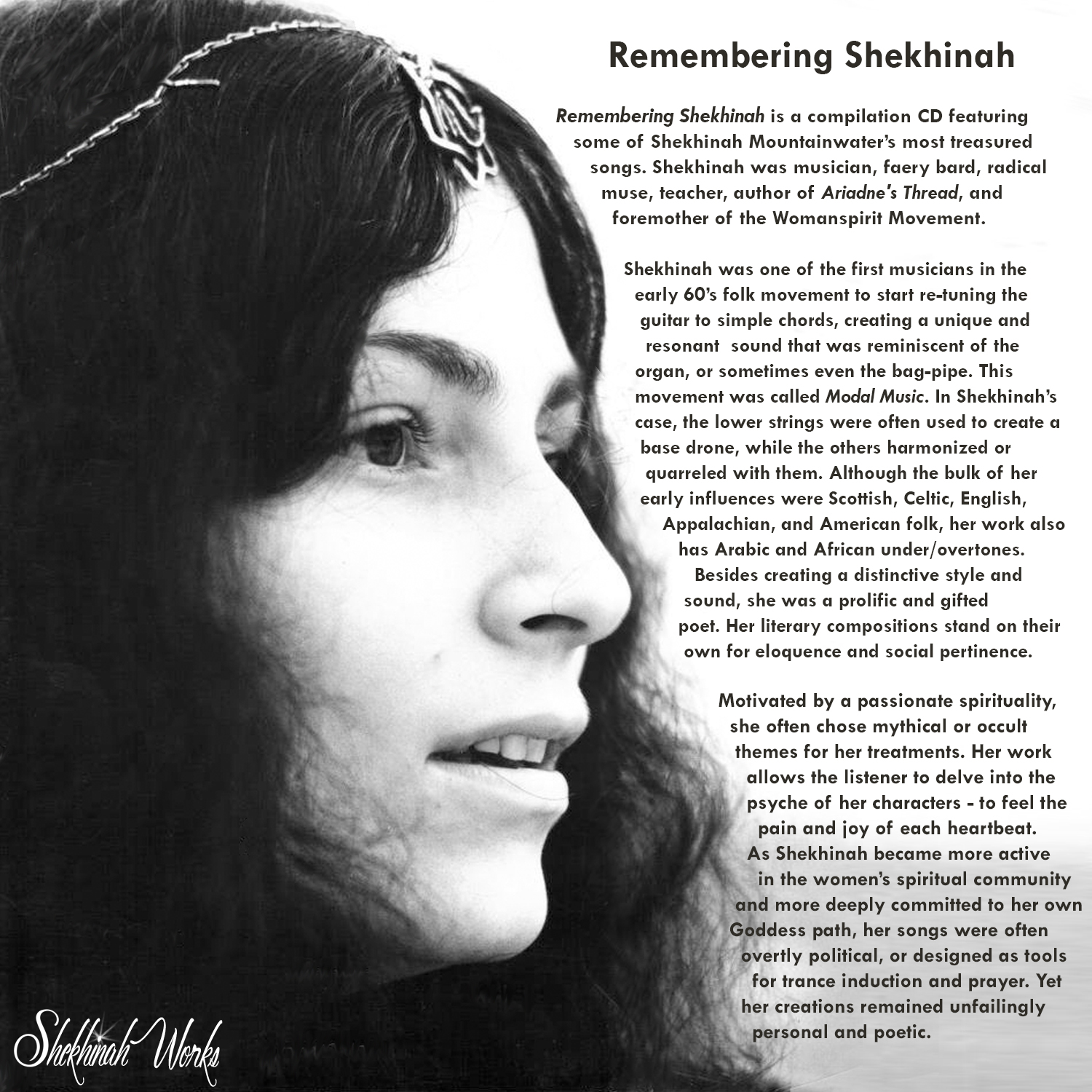 Remembering Shekhinah CD cover