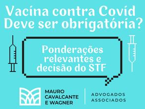 Obrigatoriedade da vacina contra Covid-19