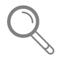 Magnifying Glass - Grey