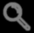 Vergrößerungsglas - Grau