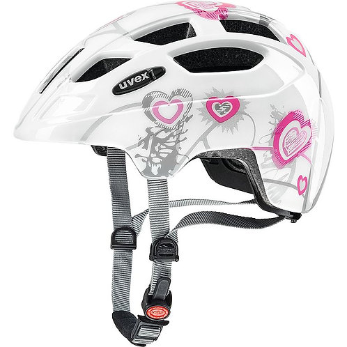 UVEX finale jr. heart white Kinder