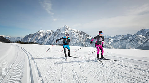 Langlauf Ski Verleih Gosau-direkt am Enstieg der Loipe im Cooee alpin Hotel Gosau