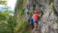 Familien-Klettersteig-Tour-Aktiv-Urlaub-Freizeit-Gosau