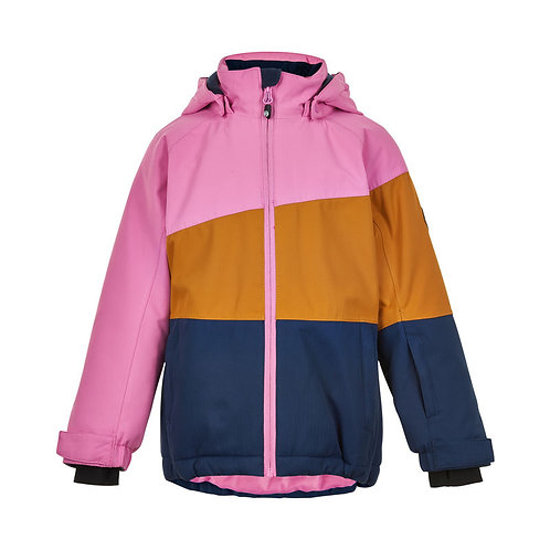 Color Kids Skijacke rosa/senf
