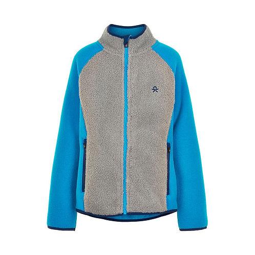 Color Kids Fleece Jacke blau