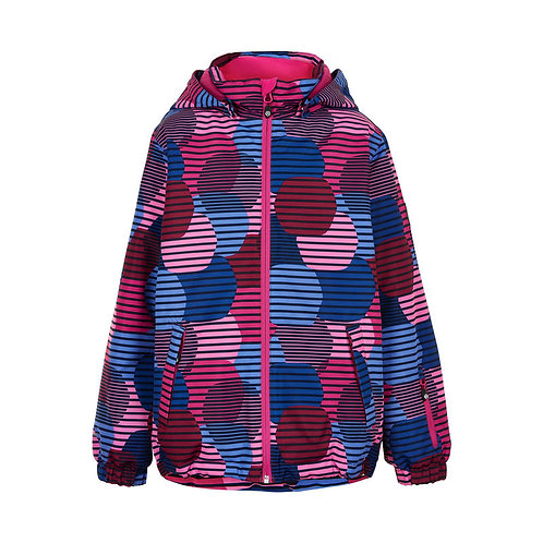 Color Kids Winterjacke blau/pink