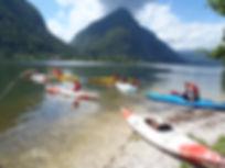 Canoeing-rental-outdoor-kayaking-hallstaetter lake-gosau