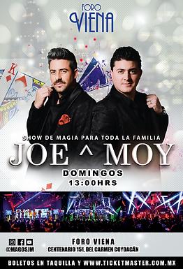 Joe & Moy en Foro Viena | Show de magia los Domingos