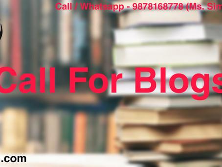 Call for Blogs : NJLRII (Peer Reviewed Journal)