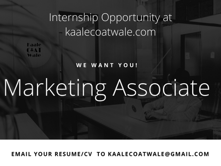 Call For Interns : kaalecoatwale.com