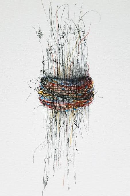 art abstrait contemporain valérie Albertosi aquarelle
