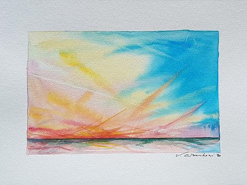 Paysage - ciel d'été côte d'Opale N° 17