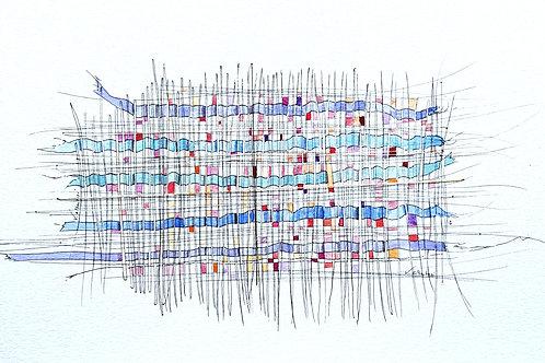 abstrait tissage N° 327