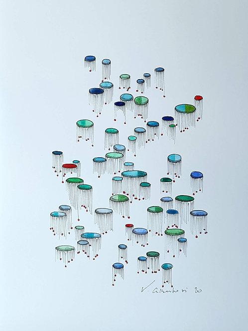 Abstrait - méduses N° 362