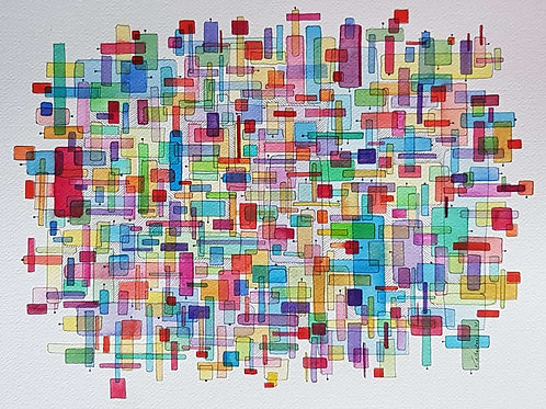 art abstrait aquarelle valerie albertosi couleur painting abstraction watercolor