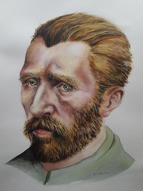 portrait vincent van gogh valerie albertosi aquarelle peinture