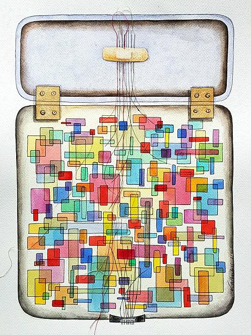 peinture aquarelle abstrait musique valerie ALBERTOSI painting abstraction