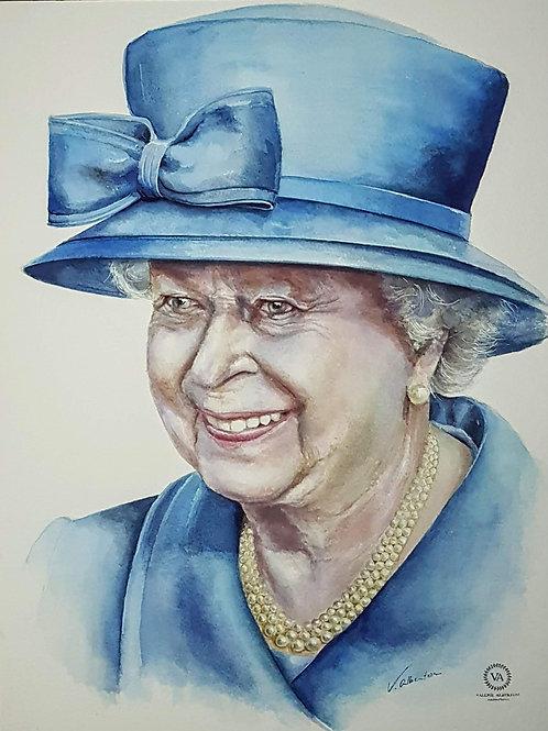 Portrait - Queen Elizabeth II of England