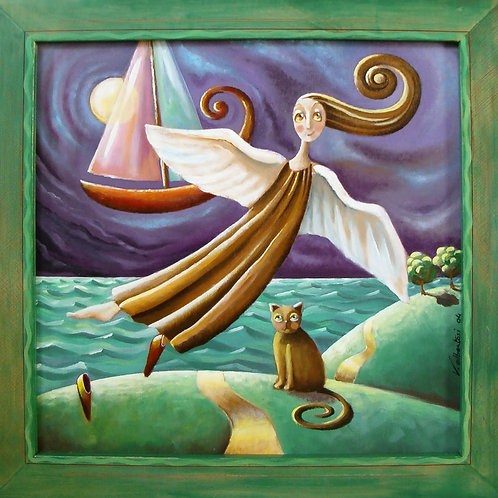 Figuratifs - l'ange et le bateau-rêve