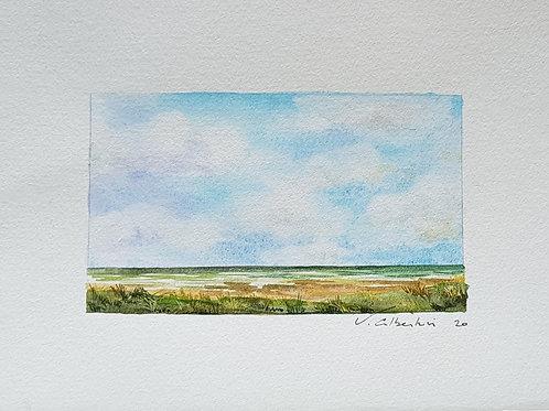 Paysage - ciel d'été dunes N° 11