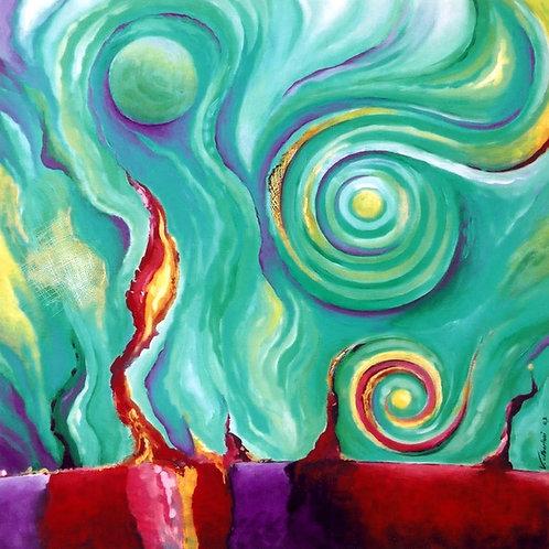 Abstrait - les énergies de l'univers