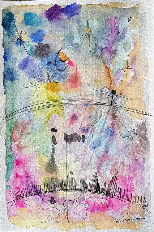art abstrait contemporain lyrique valérie Albertosi aquarelle poésie qualité