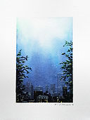 City - pleine lune N° 81, aquarelle Valerie Albertosi.jpg