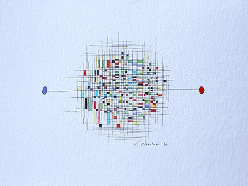 art abstrait contemporain valérie Albertosi aquarelle couleur watercolor