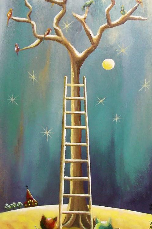 Figuratifs - l'arbre aux oiseaux