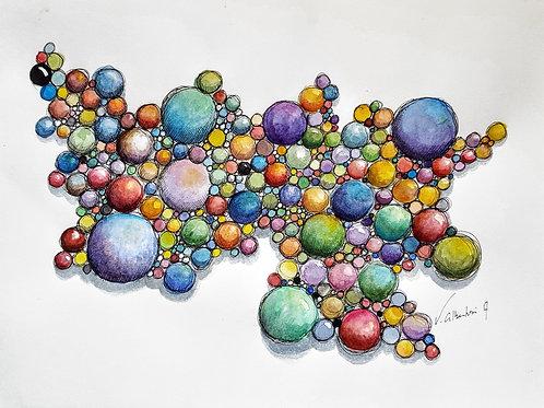 Abstrait - Noyaux N° 223