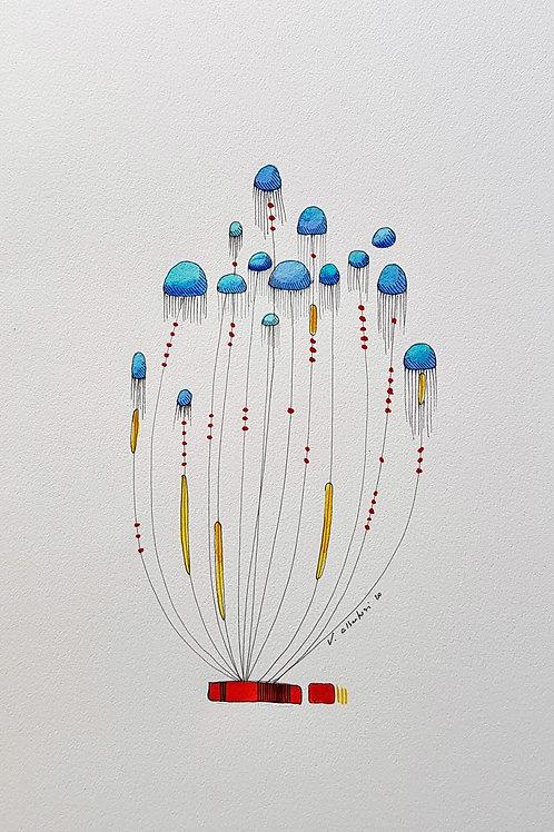 Abstraits - méduses N° 223