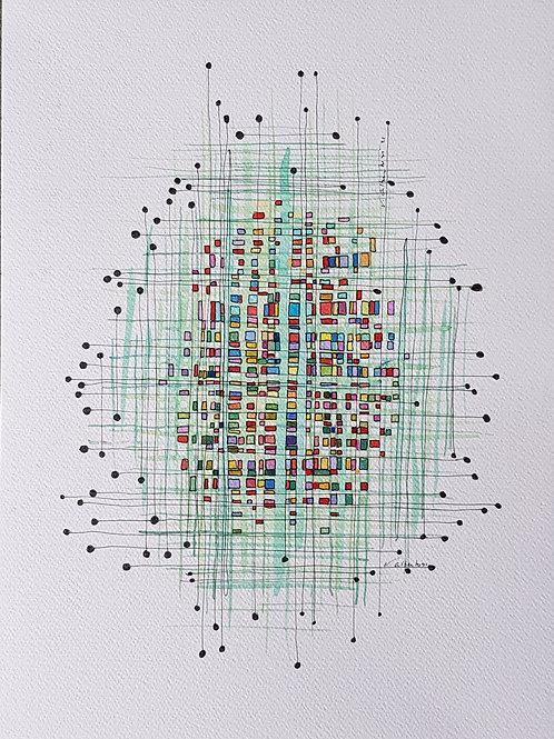 Abstrait - tissage n°88