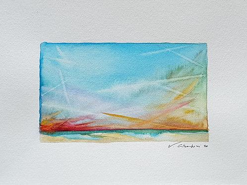 Paysage - ciel d'été côte d'Opale N° 18