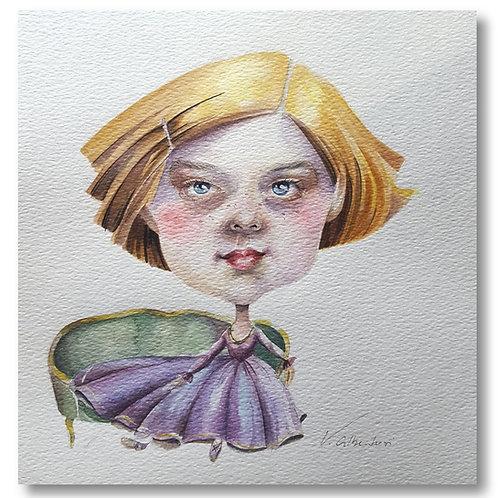 Illustration - mademoiselle Elsa