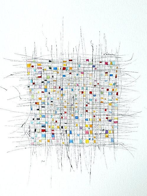 Abstrait - tissage N° 325