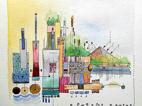 abstrait - city N° 217