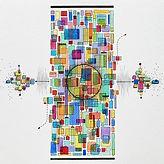 tympan abstrait peinture valerie alberto