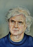 portrait Alain Françon aquarelle valerie