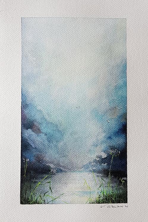 lumiere sur l'eau, marais et etangs herbes nature sauvage peinture poetique valerie albertosi