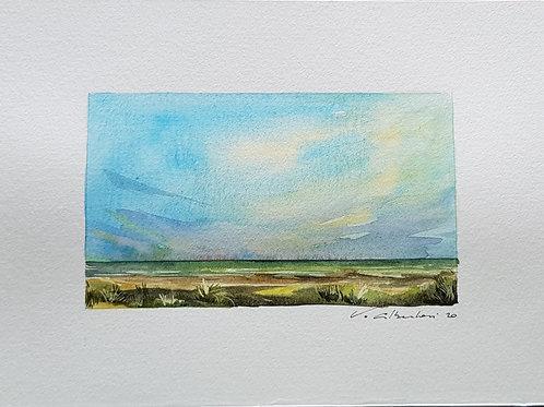 Paysage - ciel d'été dunes N° 12