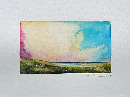 Paysage - ciel d'été dunes N° 13