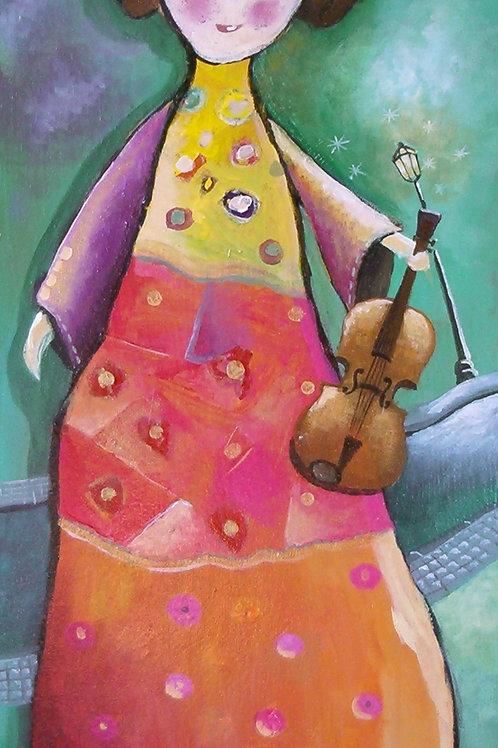 """""""la petite fille au violon"""""""