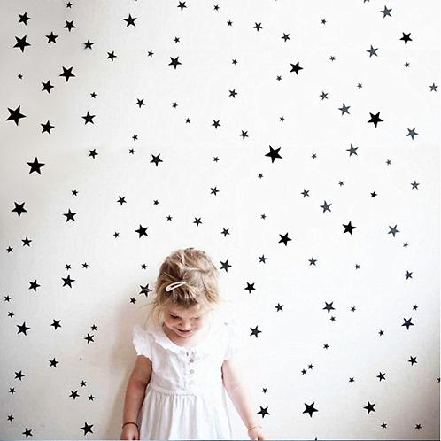 מדבקות קיר כוכבים-מיקס של 150 כוכבים
