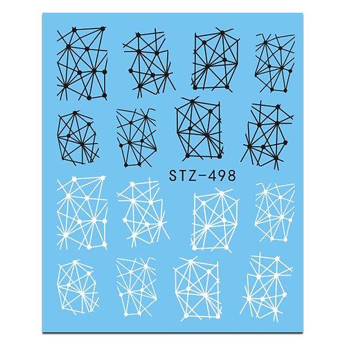 STZ498 - מדבקת ציפורניים