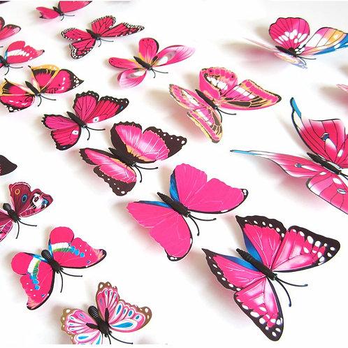 פרפרים צבעוניים בגוונים שונים