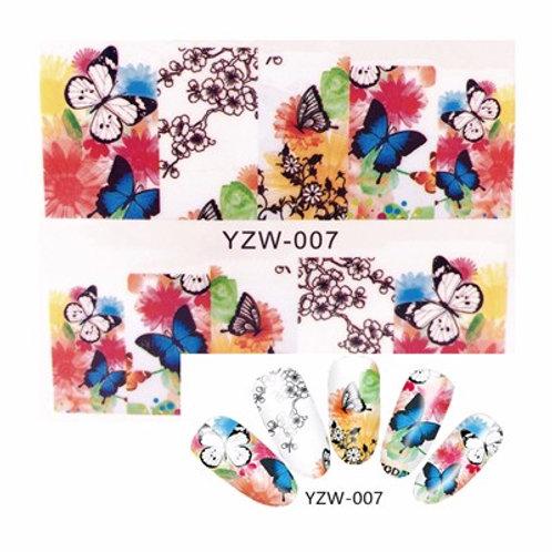 YZW007 - מדבקת ציפורניים